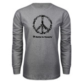 Grey Long Sleeve T Shirt-Peace Tools