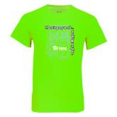Neon Green T Shirt-Planning My Work Working My Plan