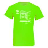 Neon Green T Shirt-Habitat Room Frame