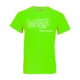 Neon Green T Shirt-Habitat We Build