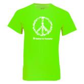 Neon Green T Shirt-Peace Tools