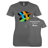 Next Level Ladies SoftStyle Junior Fitted Charcoal Tee-Beloved Community