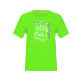 Youth Neon Green T Shirt-Planning My Work Working My Plan