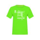 Youth Neon Green T Shirt-Habitat Room Frame