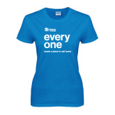 Ladies Sapphire T Shirt-Everyone Stacked