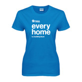 Ladies Sapphire T Shirt-Every Home Stacked
