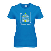 Ladies Sapphire T Shirt-Love Opportunity Partnership