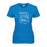 Ladies Sapphire T Shirt-Planning My Work Working My Plan