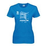 Ladies Sapphire T Shirt-Habitat Room Frame