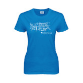 Ladies Sapphire T Shirt-Habitat We Build
