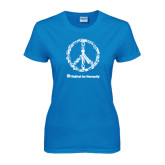 Ladies Sapphire T Shirt-Peace Tools