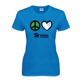 Ladies Sapphire T Shirt-Peace Love Habitat