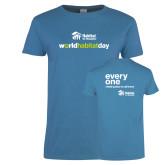 Ladies Sapphire T Shirt-World Habitat Day