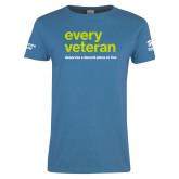 Ladies Sapphire T Shirt-Every Veteran