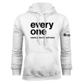White Fleece Hoodie-Everyone