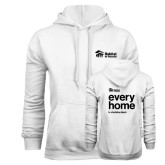 White Fleece Hoodie-Every Home Stacked