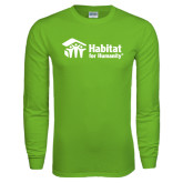 Lime Green Long Sleeve T Shirt-