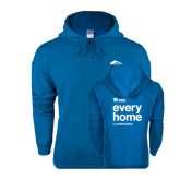 Heathered Sapphire Fleece Hoodie-Every Home Stacked