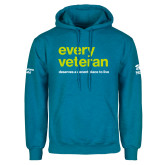 Heathered Sapphire Fleece Hoodie-Every Veteran