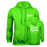 Lime Green Fleece Hoodie-Every Home Stacked