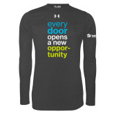 Under Armour Carbon Heather Long Sleeve Tech Tee-Every Door Opens A New Opportunity