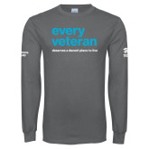 Charcoal Long Sleeve T Shirt-Every Veteran