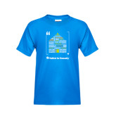 Youth Sapphire T Shirt-Love Opportunity Partnership