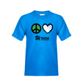 Youth Sapphire T Shirt-Peace Love Habitat