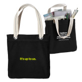Allie Black Canvas Tote-Its up to us