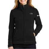 The North Face Ladies Black Heather Fleece Jacket-