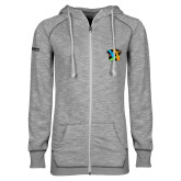 ENZA Ladies Grey/Black Marled Full Zip Hoodie-Beloved Community