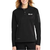 Eddie Bauer Ladies Black 1/2 Zip Performance Fleece-