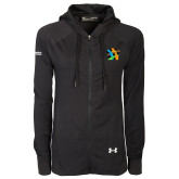 Ladies Under Armour Black Varsity Full Zip Hoodie-Beloved Community