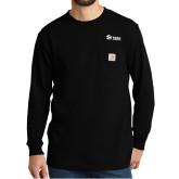 Carhartt Workwear Black Long Sleeve Pocket T Shirt-