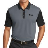 Nike Dri Fit Black/Charcoal Colorblock Icon Modern Fit Polo-