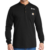 Carhartt Black Long Sleeve Henley Shirt-