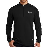 OGIO Luuma Black 1/2 Zip Fleece-