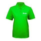 Ladies Easycare Lime Green Pique Polo-