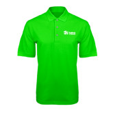 Lime Green Pique Polo-