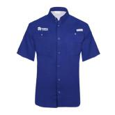 Columbia Tamiami Performance Royal Short Sleeve Shirt-