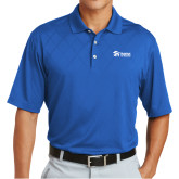 Nike Dri Fit Royal Cross Over Texture Polo-