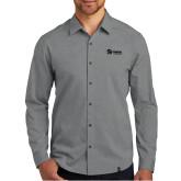 OGIO Commuter Grey Heather Woven Shirt-