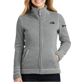 The North Face Ladies Grey Heather Fleece Jacket-