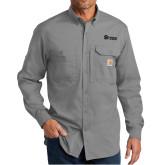 Carhartt Force Ridgefield Grey Long Sleeve Shirt-