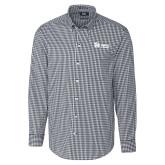 Cutter & Buck Charcoal Stretch Gingham Long Sleeve Shirt-