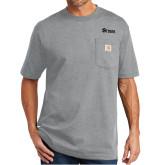 Carhartt Workwear Heather Grey Pocket T Shirt-