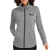 Ladies OGIO Luuma Grey Heather Full Zip Fleece-