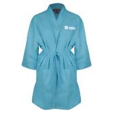 Aqua Waffle Kimono Robe-