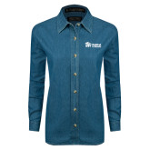 Ladies Denim Long Sleeve Shirt-