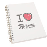 Clear 7 x 10 Spiral Journal Notebook-I Love Habitat for Humanity